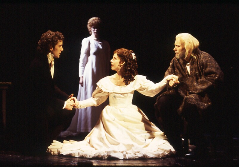 Sandra when she was performing in Les Misèrables as Cosette.