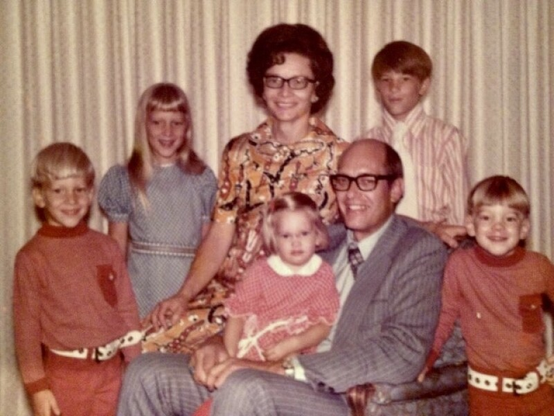 Photo of LuAnne's family when she was young.