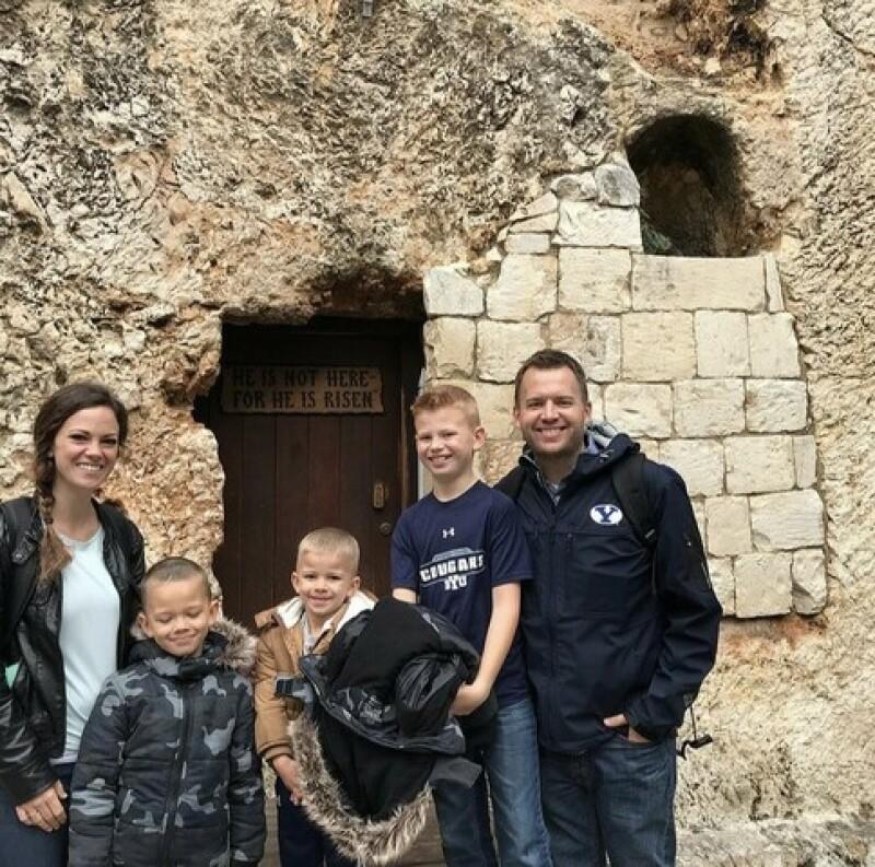 Sheradon and family in Jerusalem.