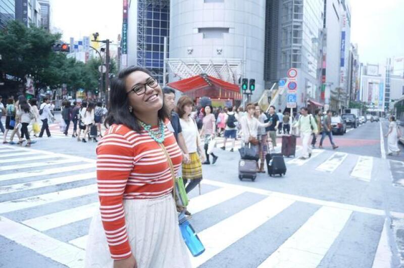 Miya on her mission in Tokyo.