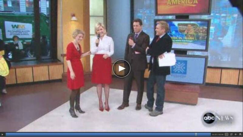 Tamara (left) on Good Morning America talking about her 31 dates in 31 days.