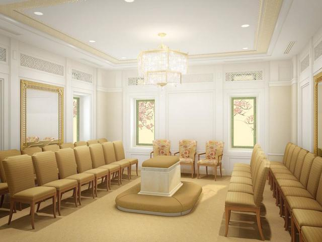 Rendering of the sealing room in the Hong Kong China Temple.