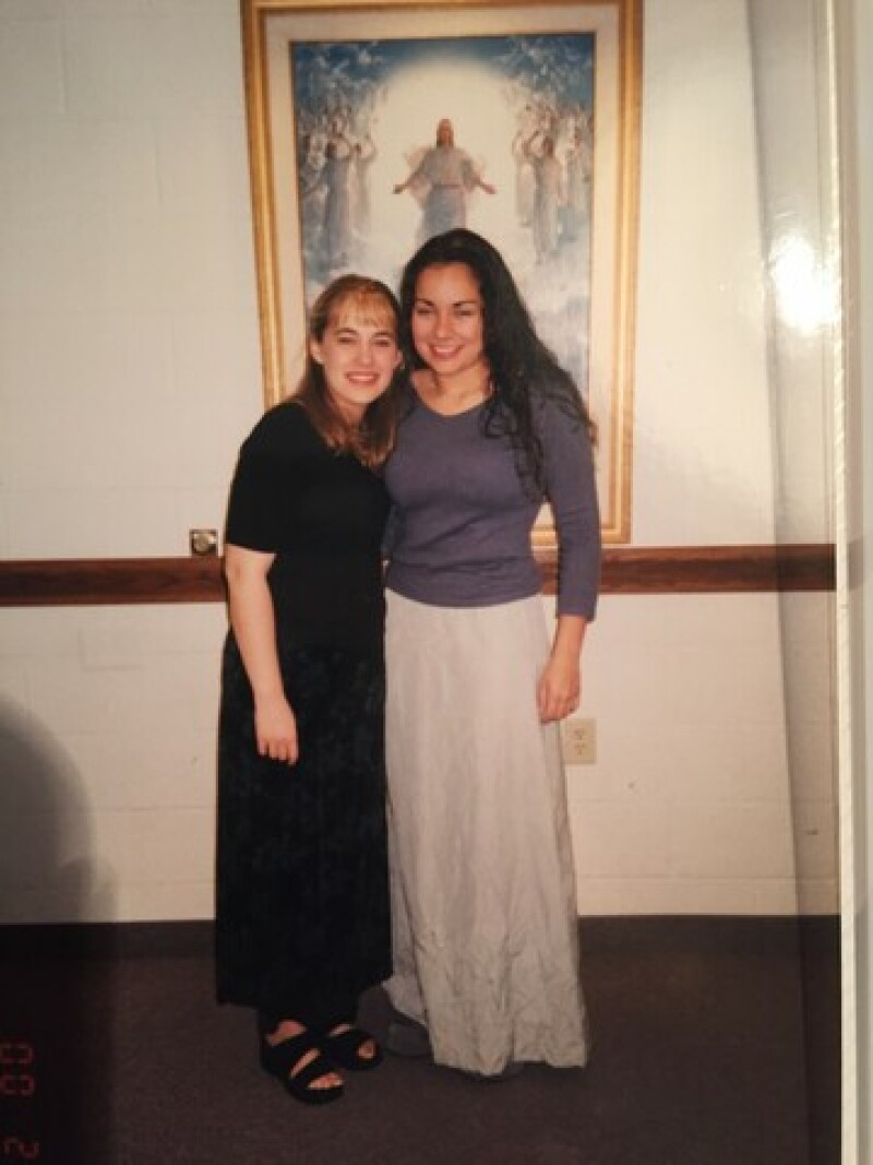 Nicole on her baptism day.