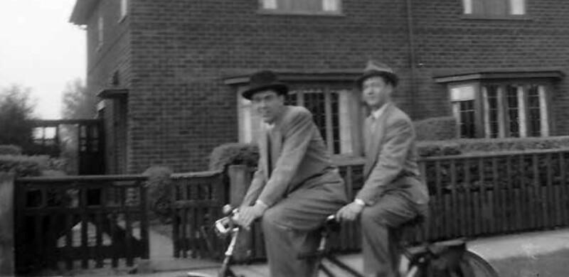 Ballard on bike