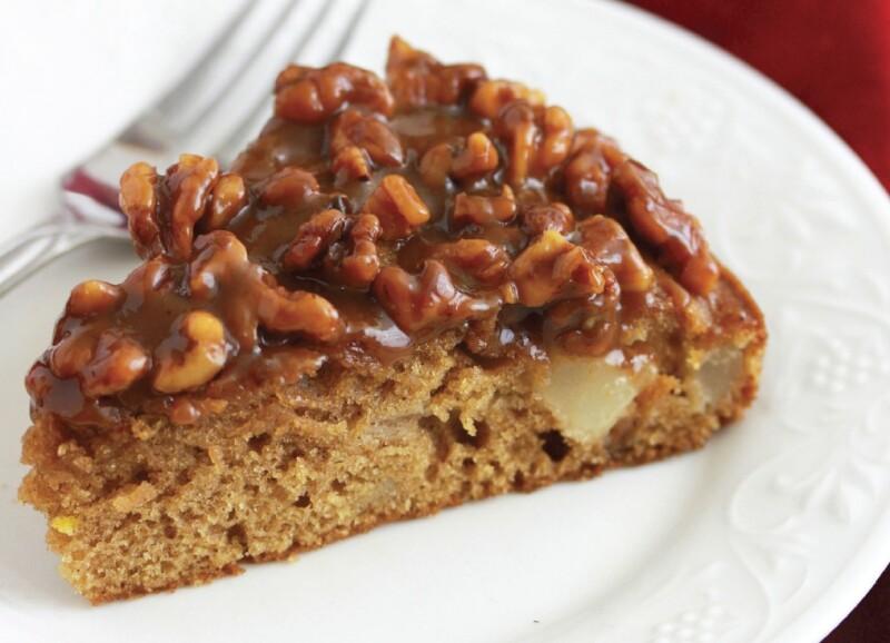 Caramel Pear Walnut Cake by Daring Gourmet