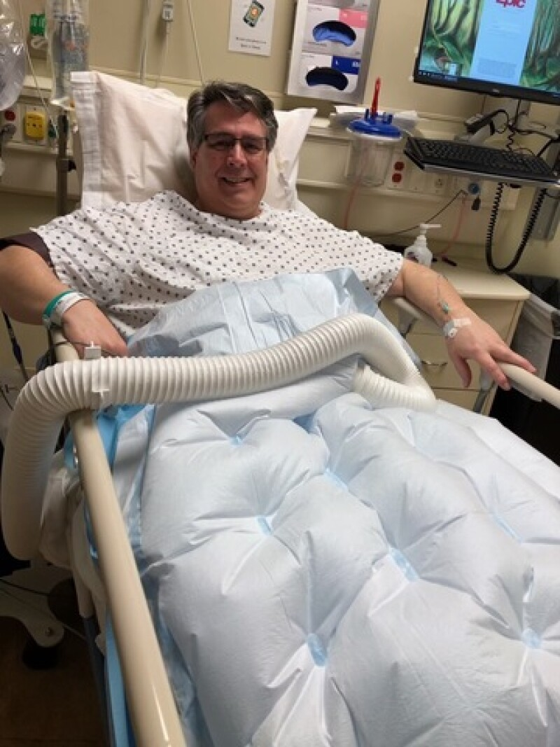 Sue's husband hospitalized during COVID-19 for a medical procedure: