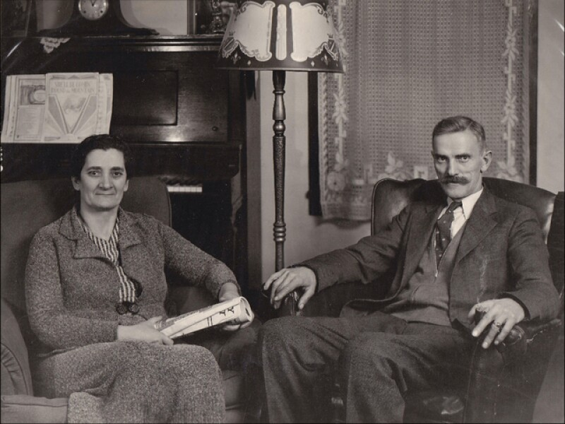 Jeff's great grandparents Jovica and Mileva Mijušković, they emigrated from Montenegro to Worland, Wyoming. He was able to find their graves with the help of a friend.