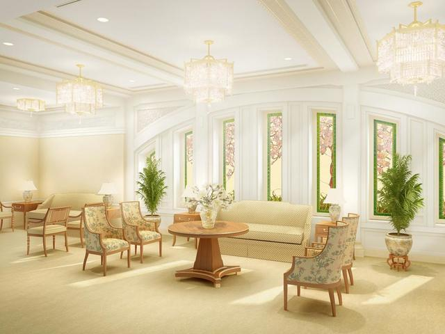 Rendering of the celestial room in the Hong Kong China Temple.