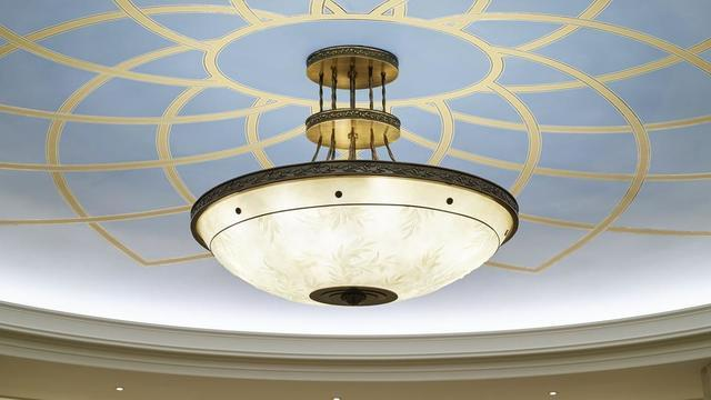 The Rome Italy Temple has various light fixtures.