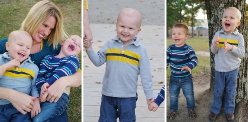 Cheryl with her boys Sawyer and Lincoln. When Lincoln was 2-and-a-half years old, he was diagnosed with lymphoblastic leukemia and underwent cancer treatments for several years