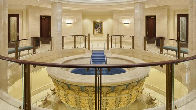 The baptistry of the Rome Italy Temple.