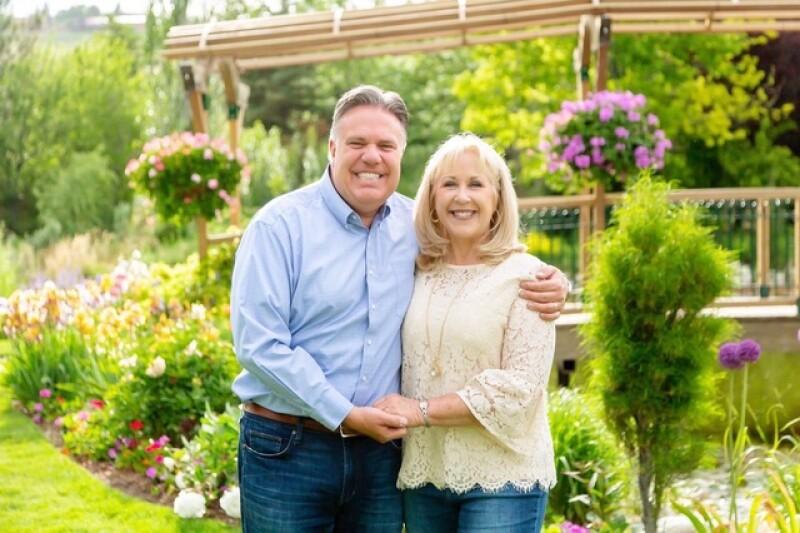 Brad Wilcox with his wife, Debbie.