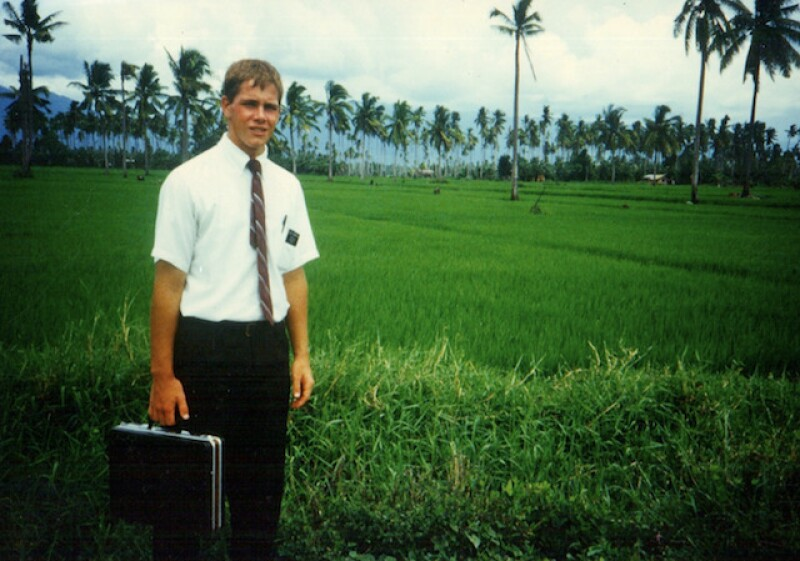 David on his mission in the Philippines. While serving his mission, David had a miraculous experience that helped him adjust to the challenges he faced.