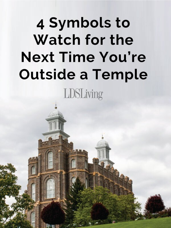 There are more than 150 temples around the world. And though we know that plenty of symbolism exists inside each of these sacred buildings, there is a surprising amount on the outside of them as well—if you know where to look.