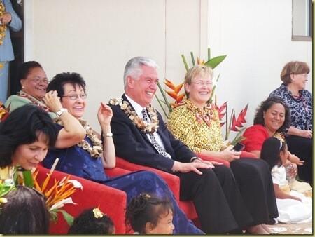 President Uchtdorf visits Tonga.
