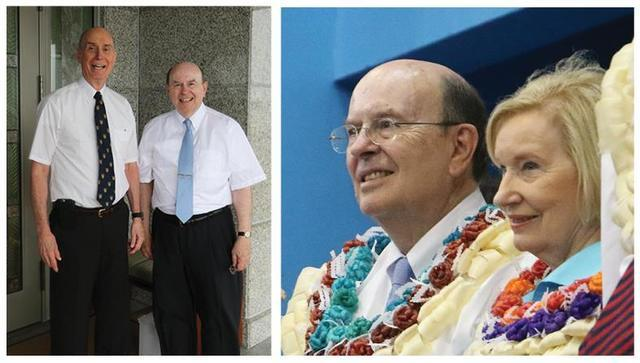 Image titleElder Cook and President Eyring visiting Fiji. Image from Facebook.