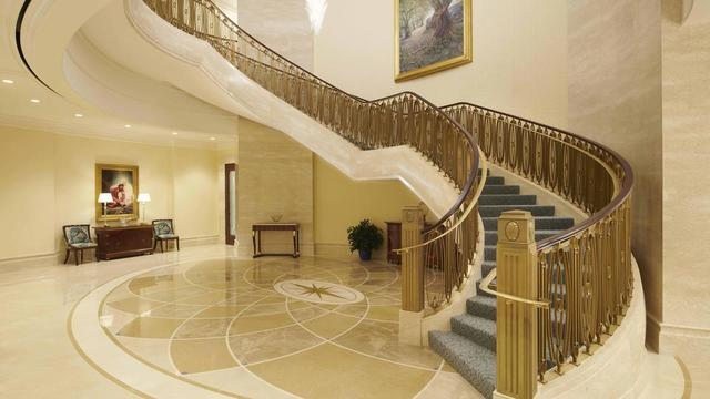 Grand staircase in the Rome Italy Temple.