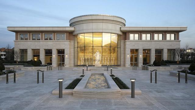 The Rome Italy Temple Visitors' Center.