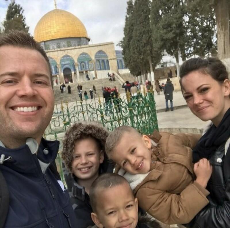 Family in Jerusalem.