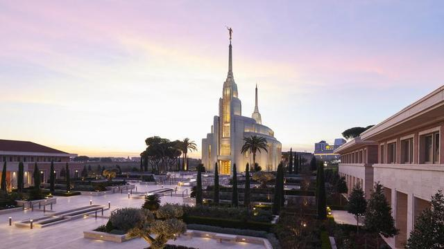 The Rome Italy Temple.