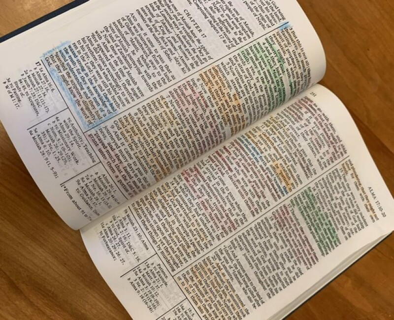 Susan's highlighted scriptures.
