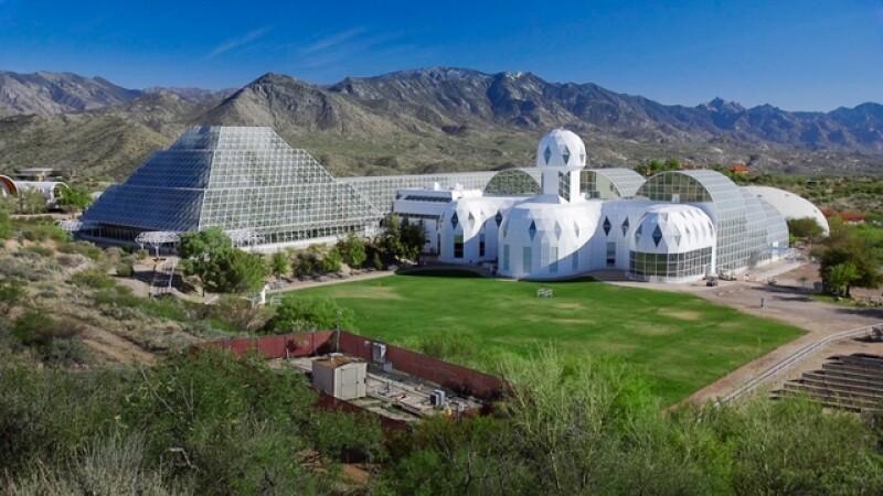 Biosphere 2 at the University of Arizona in Oracle, Arizona (Bob Demers/University Communications, news.arizona.edu).