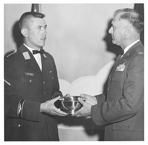 Outstanding student pilot in his class with the U.S. Air Force, Dieter Uchtdorf received the Commander's Trophy