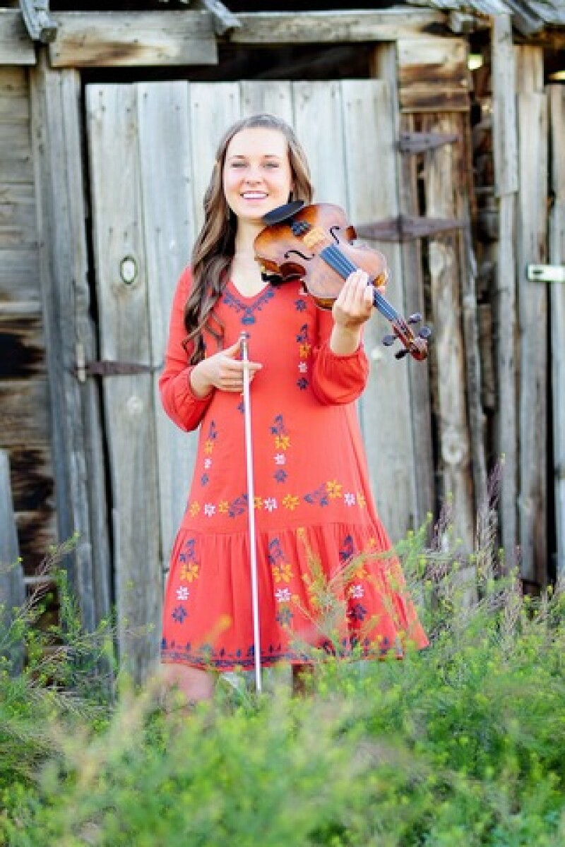 Violinist Gracie who shared her musical gifts and brought warmth and light to an older gentleman in her ward: