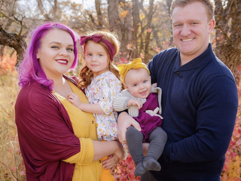 Martin with his wife and two girls.
