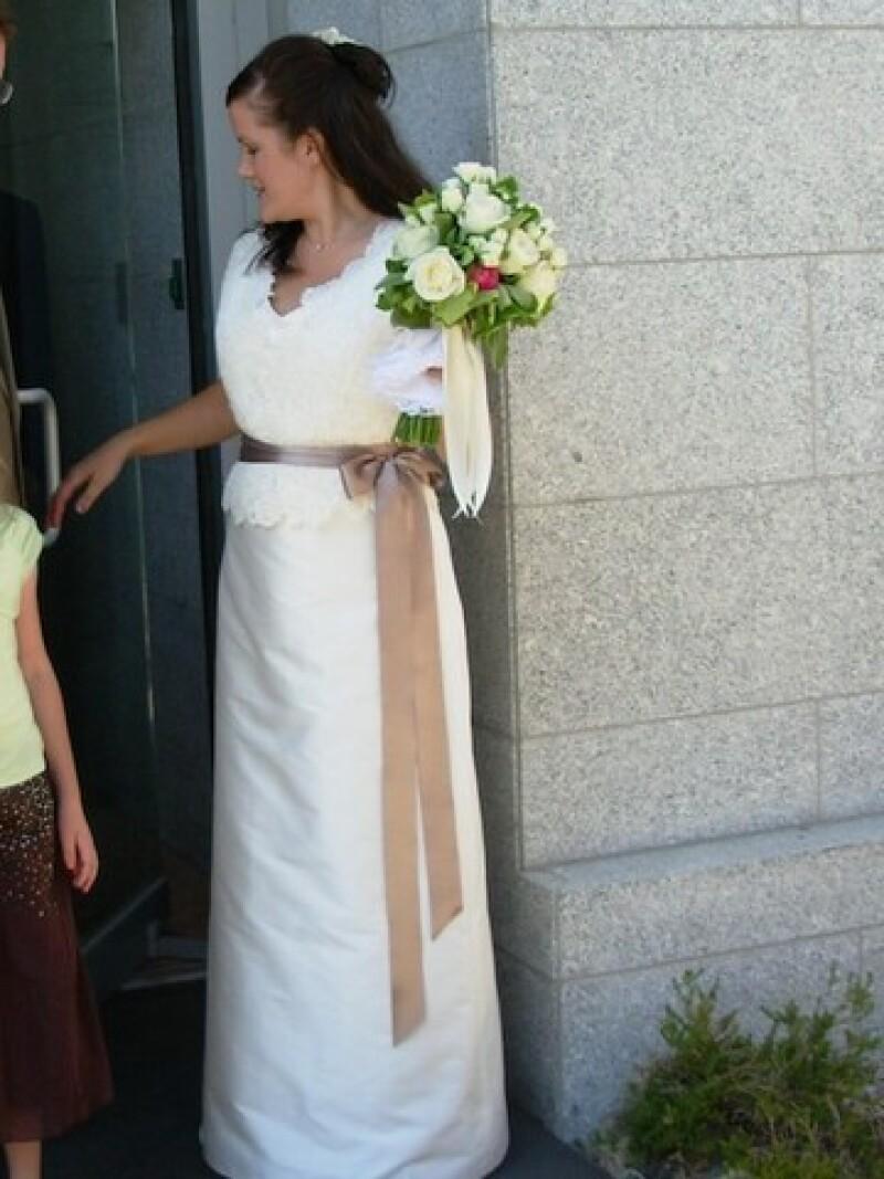 Tammy in wedding dress