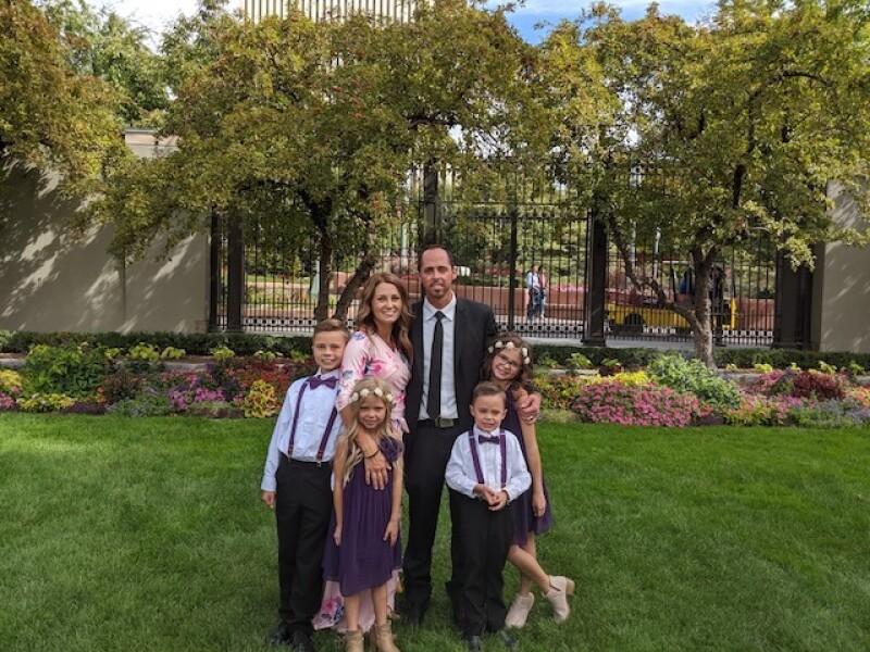 Matt with his family
