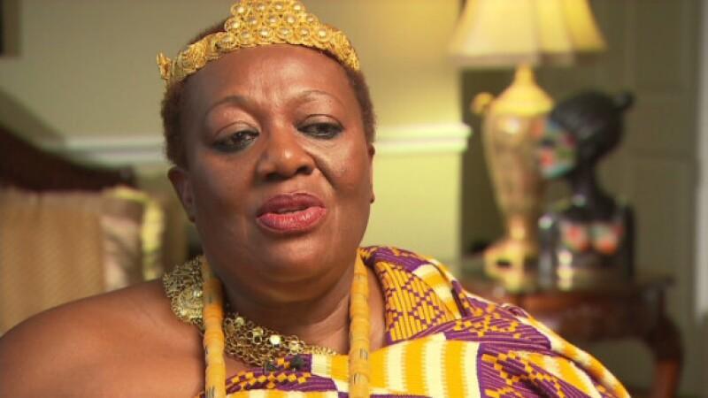 Peggieline Bartens, King of Otuam in Ghana (Image from cnn.com)