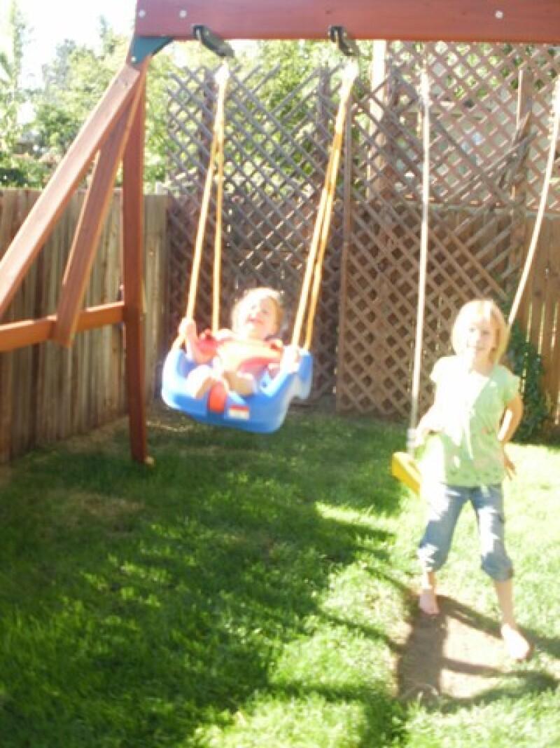 The swing set that John built: