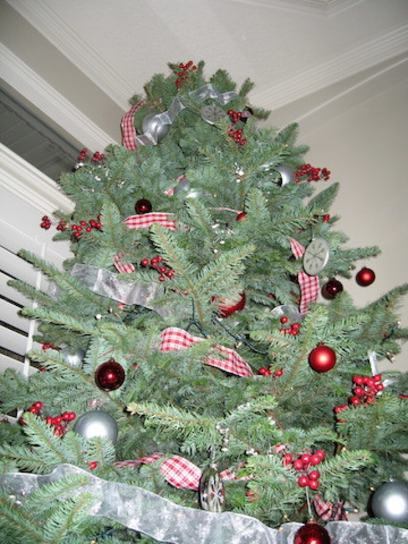 Tammy's Rockefeller-worthy Christmas tree she created her first Christmas with her new family.