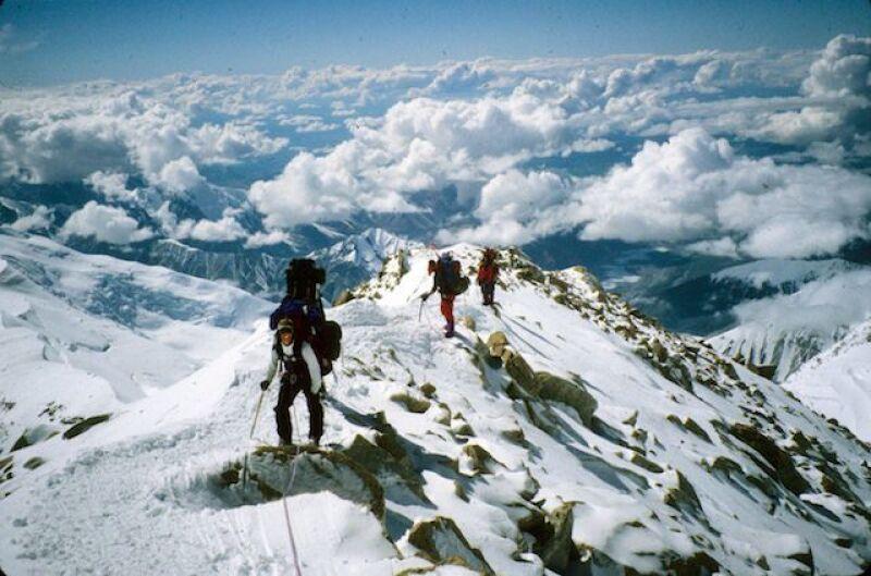 Stacy submitting Denali, Alaska's tallest mountain peak.